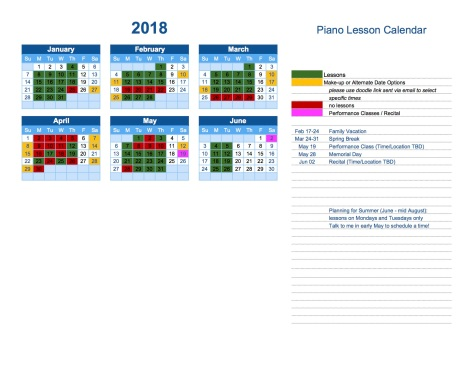 spring-teaching-calendar-2018